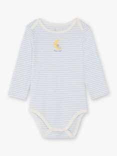 Boy's 3 white and sky bodysuits BEGABRIEL / 21H5BG81BDL001