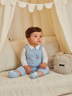 Baby boy overalls, bodysuit and socks with teddy bear print BOON / 21H0CGK2ENS219