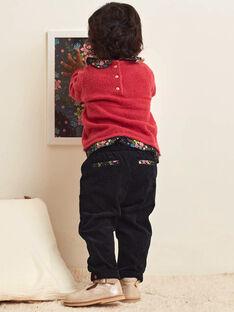 Baby girl black corduroy pants with bow BAMAELLE / 21H1BFM1PAN090