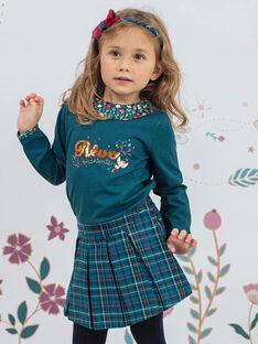 Girl's duck blue plaid skirt-short BOELIETTE / 21H2PF91SHO714