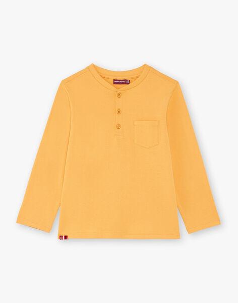 Boy's yellow T-shirt BUXOLAGE1 / 21H3PGB3TML113