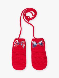 Red knitted mittens child girl BLOZAPETTE / 21H4PFE1GAN308