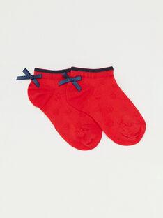 Red Low socks TUIFAETTE / 20E4PFW1SOBF503