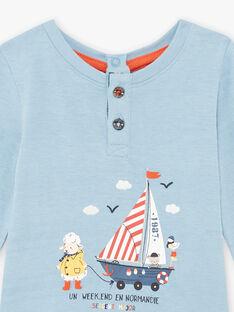 Baby Boy Blue Sheep and Boat T-Shirt BANOA / 21H1BGL1TML205