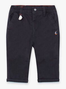 Baby boy night blue twill pants BANATHAN / 21H1BGL1PANC205