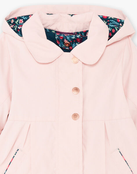 Baby girl pink raincoat with integrated down jacket BINELLY / 21H1BFC2IMPD329