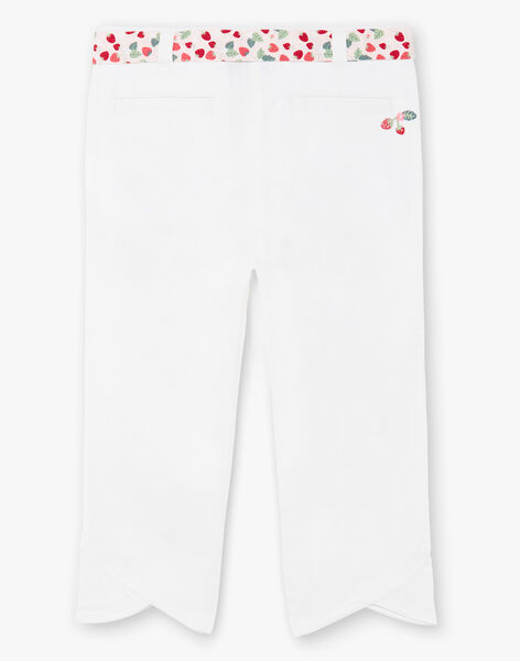 Off-white pants with printed belt ZOBILETTE / 21E2PFJ1PCO001