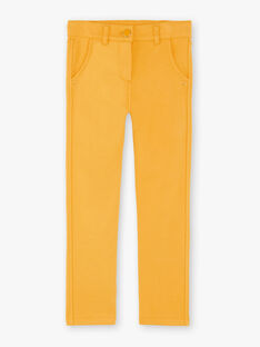 Pants child girl yellow ZLUPETTE2 / 21E2PFK2PANB106