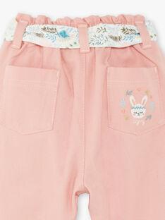 Pink baby girl pants ZABONY / 21E1BF71PAND327