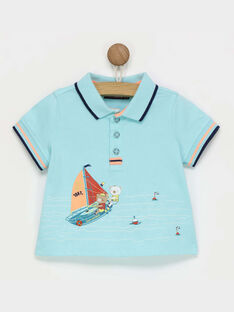 Pale turquoise Polo shirt RAGARRET / 19E1BGD1POL203