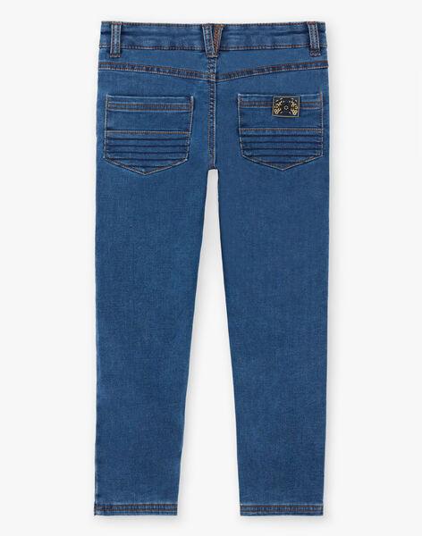 Boy's denim effect knitted jeans ZAMLAGE / 21E3PG91JEAP269
