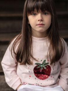 Pink strawberry sequins sweatshirt ZESWETTE 2 / 21E2PFJ1SWE301