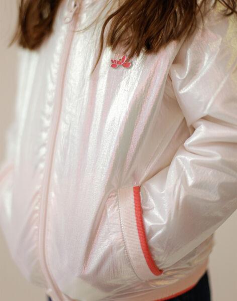 Iridescent pink and ecru jacket ZOUTYNETTE / 21E2PFM2VESP276