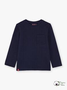 Boy's navy blue T-shirt BUTILAGE1 / 21H3PGB1TML070