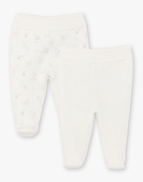 2 unbleached and grey baby pants mixed BOADEL / 21H0NM41PAN001