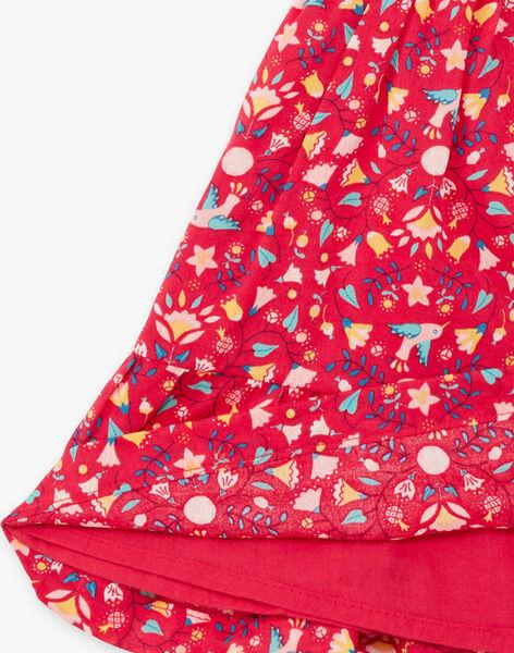 Baby Girl Raspberry Pink Printed Dress TASOLENE / 20E1BFQ1CHSF510