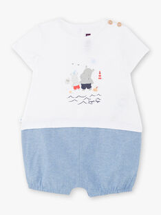 White and blue baby boy jumpsuit ZAOUEST / 21E1BGT1CBL000