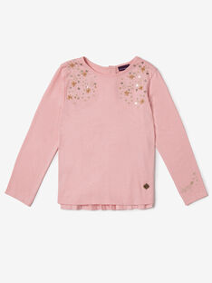 Pink T-SHIRT VOUMUETTE / 20H2PFY2TMLD326