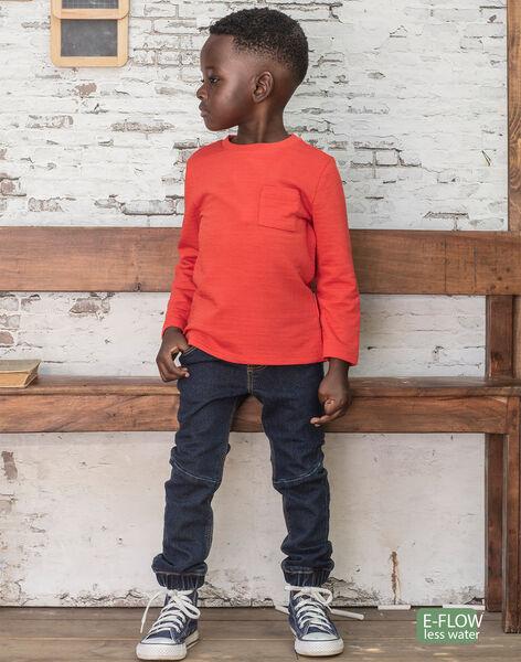 Boy's dark denim jeans BUWOLAGE1 / 21H3PGB2JEAK005