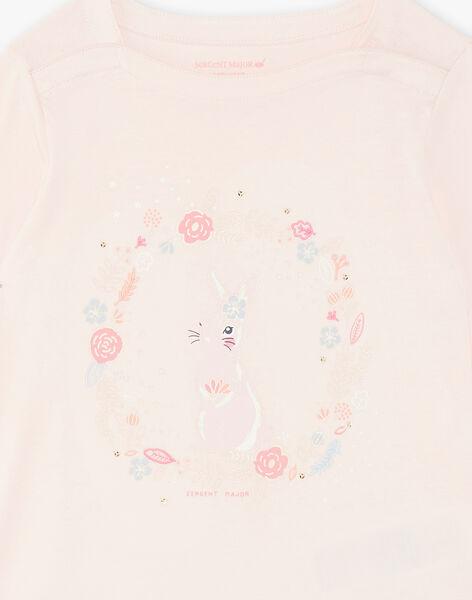 Pink pyjama child girl ZEPOMETTE / 21E5PF15PYJD328