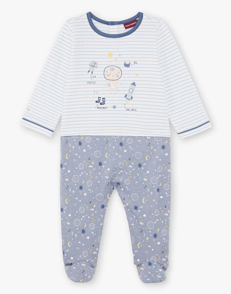 Baby boy blue and white sleep suit BEAXEL / 21H5BG66GRE205