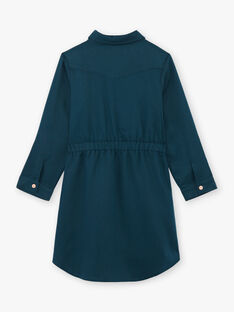 Girl's duck blue safari dress BRORECETTE3 / 21H2PFB8ROB714
