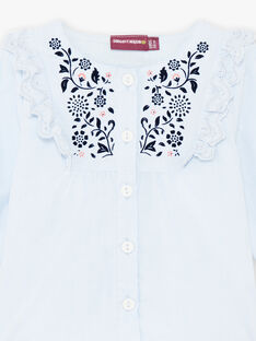 Baby girl sky blouse with flowers BAKRISTINE / 21H1BFL1CHE020