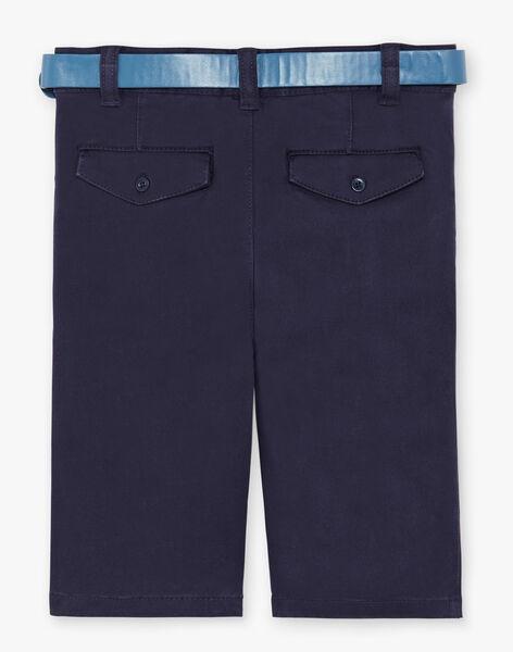 Navy blue Bermuda shorts ZECROAGEEX / 21E3PGB2BER070
