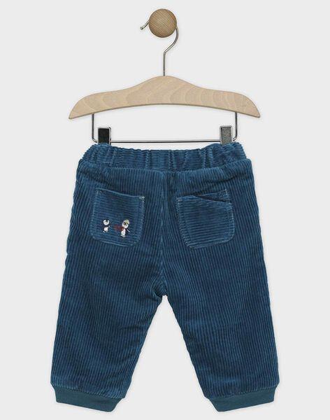 Lagoon blue pants SATERANCE / 19H1BGN2PAN210